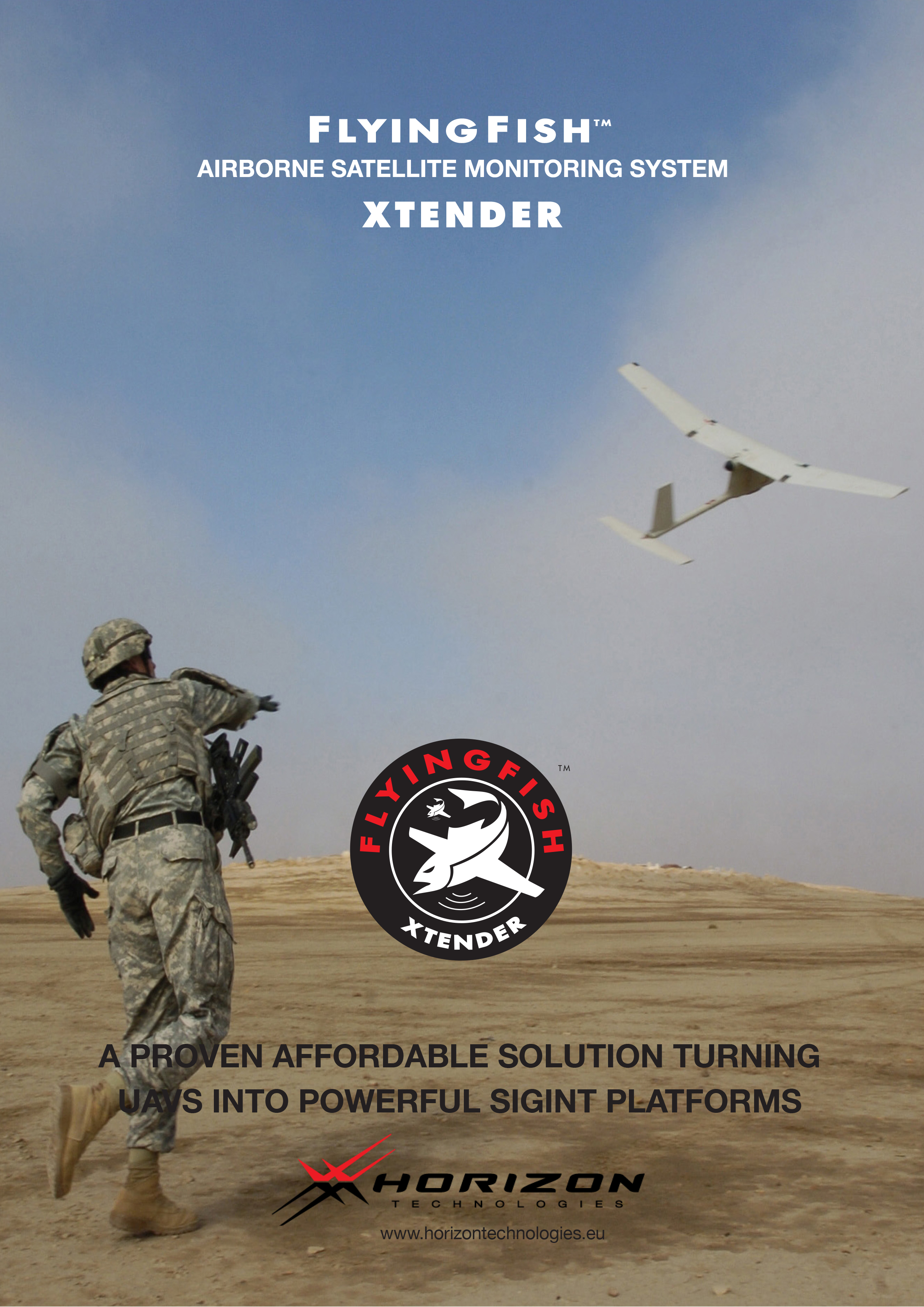 FlyingFish™ Xtender Airborne Satellite Monitoring System
