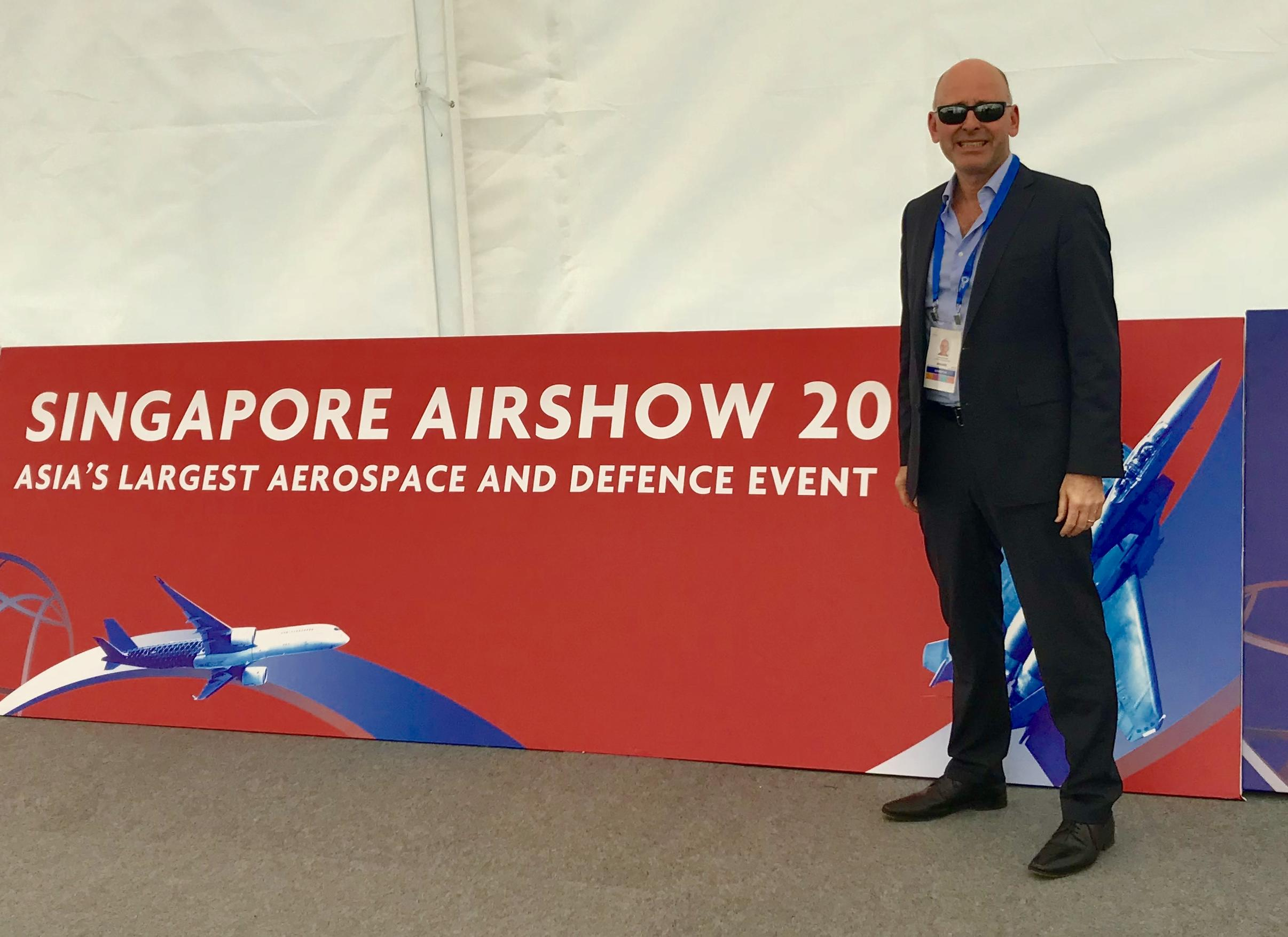 John Beckner, Director/Owner, Horizon Technologies at the Singapore Airshow.