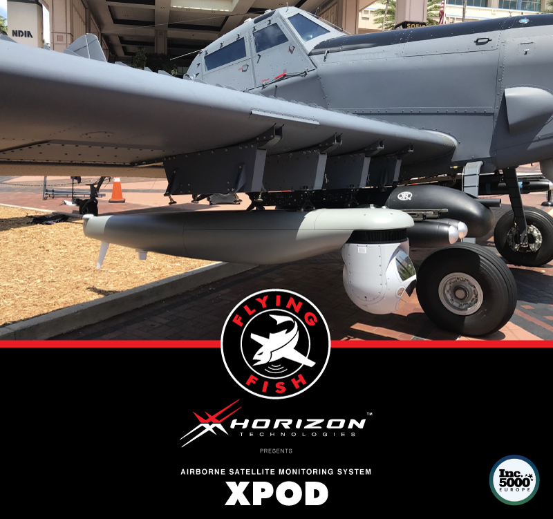 "Horizon Technologies Unveils Its New Plug and Play ISR ""XPOD"" on L3's Longsword Light Attack Aircraft at SOFIC 2018"