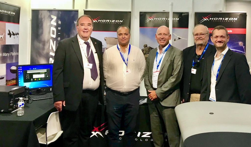 Horizon Team with John Beckner, Managing Director, at the Farnborough International Airshow 2018