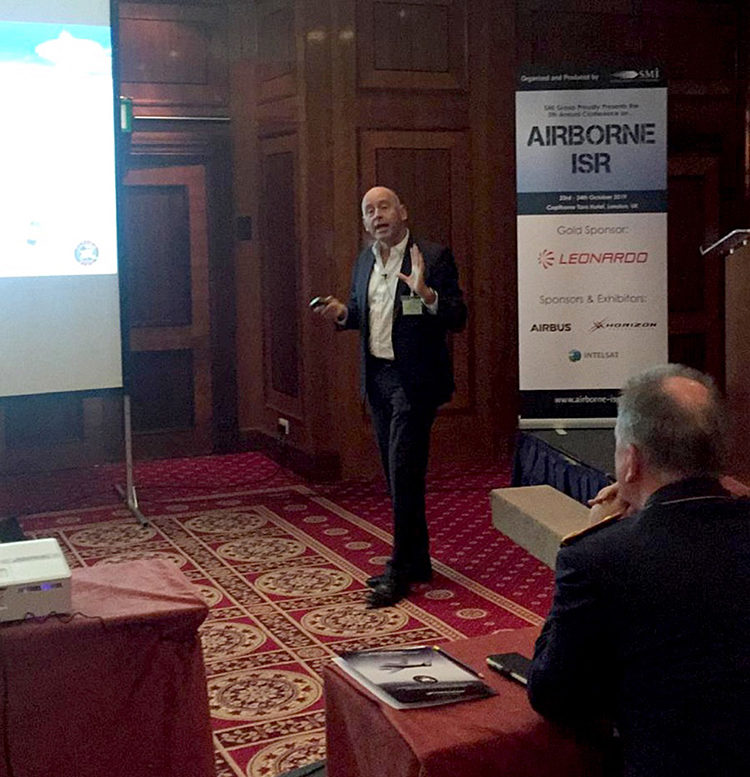 John Beckner gave a presentation on trends in Sat Phone SIGINT at the Airborne 2019 ISR Conference in London.